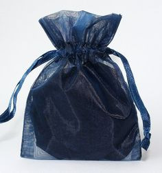 Kingwedding Navy Blue Organza Drawstring Pouches Jewelry Party Wedding Favor Gift Bags photo ideas from Amazing Party Decoration Ideas Christmas Wedding Favors, Wedding Favor Bags, Silk Rose Petals, Silk Roses, Gift Wrapping Supplies, Pouch Bag, Pouches, Drawstring Pouch, Jewelry Party