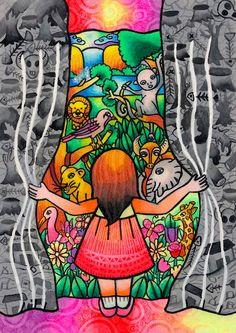 La pintora esTrisha Co Reyes, una niña de 13 años.Este es el dibujo ganador, elegido entre más de 600.000 de 99 países, en la vigésima convocatoria del Concurso Internacional de Pintura Infantil sobre Medio Ambiente.