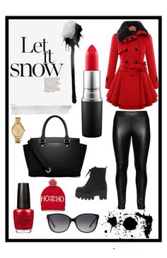"""CHRISTMAS IS COMING!"" by gabby-kezia on Polyvore featuring Studio, MICHAEL Michael Kors, MAC Cosmetics, OPI, Michael Kors and Lacoste"
