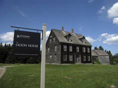 Olson House, Cushing, ME. This house is familiar, being the subject of many Andrew Wyeth artworks.
