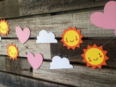 My Little Sunshine Party Garland Baby Shower by BlueOakCreations