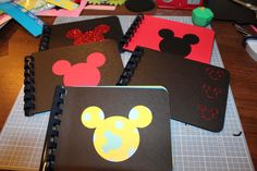 Here's a quick and fun mini Mickey album I made before our trip to Disney World.  If you would like instructions, please visit my Facebook page at Jen Kuzdas Creative Memories Consultant.