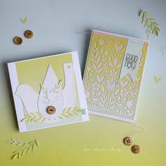Summer Folk Art Cards, Sizzix Guest Designer of the Month. Sizzix Thinlits Die Set - Folk Art Stencil and Sizzix Bigz Die - Folk Bird. Banner, Paper Peonies, Diy Blog, Winter Cards, Treat Bags, Tim Holtz, Folk Art, Stencils, Crafty