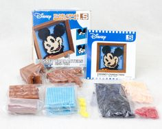 Disney Characters Mickey Mouse Dots .S Puzzle w/Flame Pin Panel Tomytec JAPAN
