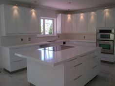 Lactea Quartz Kitchen Countertop http://www ...