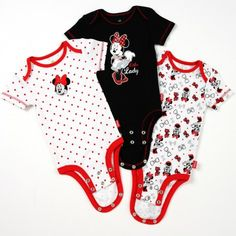 Disney Cuddly Bodysuit™ with Grow-An-Inch-Snaps™ MINNIE MOUSE 3-Pack
