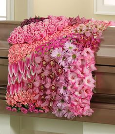 Her Blanket of Love  a casket floral spray