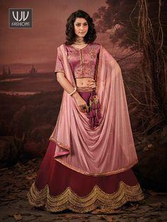 Rs6,100.00 Lehenga Choli Latest, Lehenga Choli Online, Latest Sarees, Designer Wear, Designer Collection, Fancy, Sequins, Silk, How To Wear