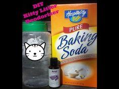 How to Save Money DIY kitty litter deodorizer - YouTube