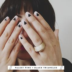 Triangle fingers.
