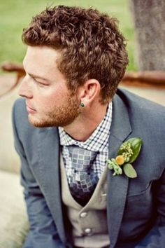 Charcoal, two-tone plaid and interesting take on chequered tie