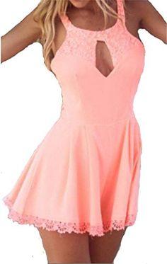 JELLO Women's Sexy Lace Cutout Backless Sleeveless Mini Pink Dress Large jello http://www.amazon.com/dp/B00WQ0U4YY/ref=cm_sw_r_pi_dp_Jnspvb0N434KT