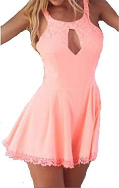 JELLO Women's Sexy Lace Cutout Backless Sleeveless Mini Pink Dress Large jello http://www.amazon.com/dp/B00WQ0U4YY/ref=cm_sw_r_pi_dp_Jnspvb0N434KT