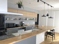 \ my home diary /さん( Interior Minimalista, Natural Interior, Interior Decorating, Interior Design, House Layouts, Small Living, Kitchen Interior, Kitchen Dining, Kitchen Remodel