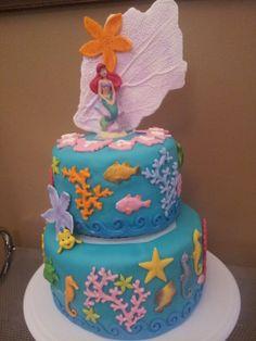 Ariel Under The Sea Fondant Cake
