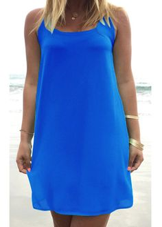 Chiffon Sleeveless Scoop Neck Bow-knot Embellished Shift Dress-Free Shipping!!! - Only $25! Buy @: http://stores.ebay.com/theofferbazaar or available to purchase @: http://shopdirectonline.net/
