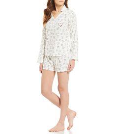 0c3562f264 ED Ellen DeGeneres Dog-Print Flannel Shorty Pajamas