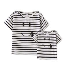 Tee-shirt famille SMILE parent enfant assorti - Tout Comme Maman