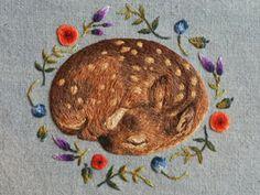 Вышивка, которая восхищает: крохотные зверята от Chloe Giordano - Ярмарка Мастеров - ручная работа, handmade