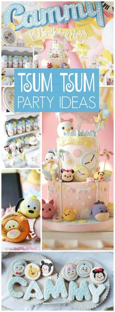 How adorable is this Tsum Tsum birthday party! See more party ideas at CatchMyParty.com!