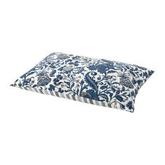 EMMIE KVIST Cushion - IKEA - floral blue cushion