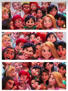 Vanellope and the Disney Princesses in Wreck-it Ralph 2 Disney Pixar, Walt Disney, Disney Magic, Cute Disney, Disney Girls, Disney And Dreamworks, Disney Animation, Disney Art, Funny Disney