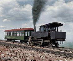 Cog Train to Pike's Peak, Colorado circa 1900