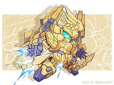 Gundam Art, Mecha Anime, Mobile Suit, Armors, Unicorn, Sunrise, Fictional Characters, Studio, Highlight