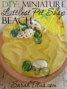 DIY Craft Ideas for Kids: Miniature Littlest Pet Shop Beach #lps #littlestpetshop #diycraftsforkids