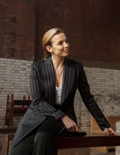 The 9 Best Killing Eve Outfits Worn By Villanelle Sheer Sleeve Dress, Dresses With Sleeves, Miu Miu, Burberry Dress, Jodie Comer, Pinstripe Suit, Who What Wear, Suits For Women, Girl Crushes