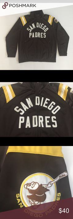 San Diego Padres Cooperstown Jacket San Diego Padres Cooperstown track jacket. Very Good+ Condition. Men's size XL. Jackets & Coats