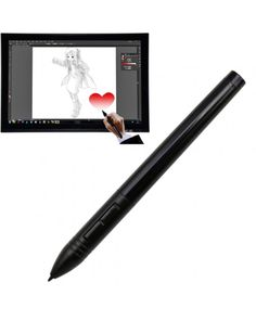 Huion P80 Wireless USB Digital Pen Stylus Rechargeable Mouse Digitizer Pen for Graphics Tablet(Black) #0