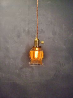 Vintage Industrial Style Bell Cage Light Machine Age by DWVintage