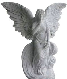 This is a beautifully carved Angel Statue of Hope. Comes in five sizes: 2′, 3′, 4′, 5′, and 6′. Standard material is Gray Granite.