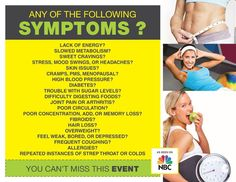 If you have any of these symptoms, let me introduce you to the Ardyss nutritional line. You be amazed how the body can heal itself if given the proper nutrition and environment!  www.ardysslife.com/rachellep