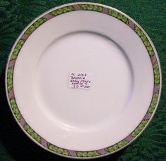 30.00 Hutschenreuther Ceramic Plate Set of 4: Black/Green/Purple Band