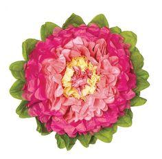 Amazon.com: Luna Bazaar Medium Tissue Paper Flower (10-Inch, Pink & Cantaloupe Orange): Arts, Crafts & Sewing