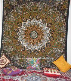 Queen star mandala tapestry indian bedspread wall hangings bohomain tapestry #Handmade