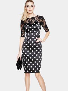 TeatroErin Spot Print Occasion Dress   Very.co.uk