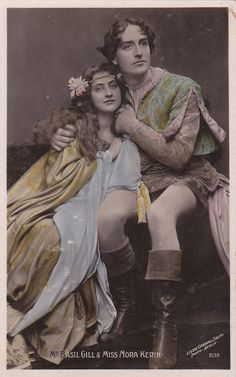 Shakespearean Actors Nora Kerin and Basil Gill as by decorables, $8.00