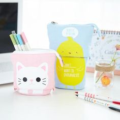 Cute supplies that make life fun. Shop for trendy stationery, adorable organizational tools, and kawaii school supplies. Large Pencil Case, Cute Pencil Case, Best Bullet Journal Notebooks, Bullet Journal Essentials, Pencil Cup Holder, Bullet Journal For Beginners, Cute Stationery, School Stationery, Kawaii Stickers