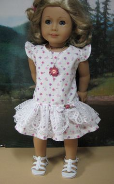 18 inch Doll Clothes American Girl Flutter Sleeve by nayasdesigns