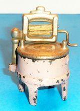 "Kilgore ""Sally Ann"" Cast Iron Doll House Toy Wringer Washing Machine - 1930s"