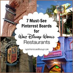 You don't want to miss these seven Pinterest boards devoted to Walt Disney World restaurants.