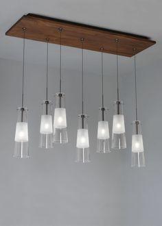 LBL Lighting 7 Light LED Rectangle Fusion Jack Canopy Accessory Bronze / Walnut Indoor Lighting Track Lighting Accessories