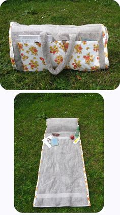 Make a tote bag that turns into a beach towel (with a pillow in it!). I would love to make these for gifts for my girlfriends!