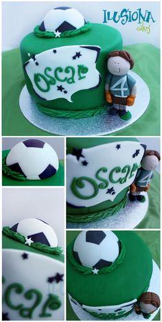 Ilusiona Cakes Soccer Cakes, Soccer Birthday Cakes, 1 Year Birthday Party Ideas, Birthday Parties, Sports Party, 1st Year, Amazing Cakes, Cake Decorating, Decoration