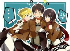 Attack on Titan Image - Zerochan Anime Image Board Attack On Titan Comic, Attack On Titan Fanart, Attack On Titan Ships, Attack Titan, Anime Couple Kiss, Anime Couples, Anime Love Triangle, Eren And Annie, Eren X Mikasa