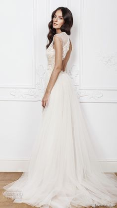 divine atelier 2016 bridal gowns cap sleeves jewel neckline middle slit fully embellished elegant sexy lace sheath wedding dress detachable a line overskirt keyhole back (isadora) sv