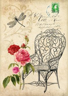 Sweet Garden  Large Image  digital collage  set by bydigitalpaper, $4.50